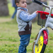 Young Little Boy with A Bike — Stock Photo