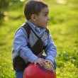 Kid with A Ball — Stock Photo