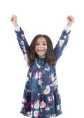 Happy Girl Raising Her Arms — Stock Photo