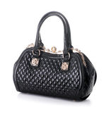 A Black Leather Handbag — Foto Stock