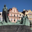 Prague: Jan Hus memorial - Stock Photo