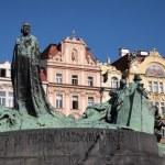 Prague: Jan Hus memorial — Stock Photo #13303149