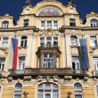 Prague: Art Nouveau facade — Stock Photo