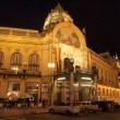Prague at night: Municipal House - Stock Photo