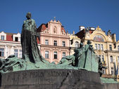 Prague: Jan Hus memorial — Stock Photo