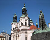 Prague: St. Nicholas church — Stock Photo