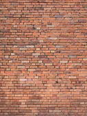Parede de tijolos vermelha — Fotografia Stock