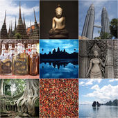Asia Collage — Stock Photo
