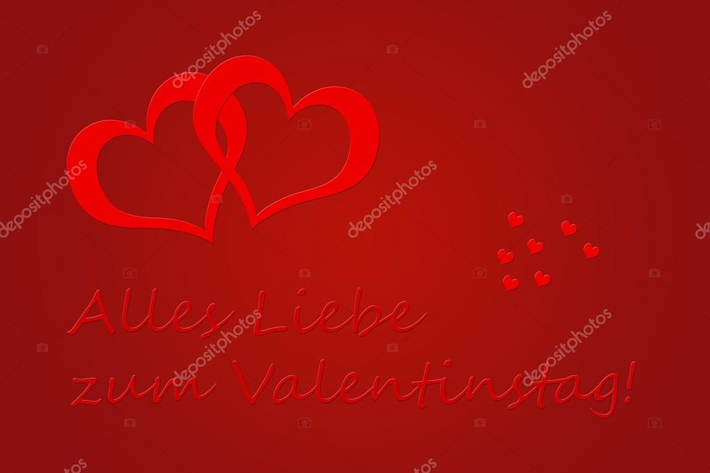 Valentines Day greeting card in German  Stock Photo #18893965
