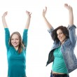 Two women cheering — Stock Photo #23296560
