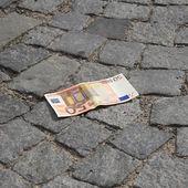 Lost cash — Stock Photo