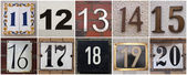 Nummers 11 tot 20 — Stockfoto