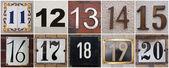 čísla 11 až 20 — Stock fotografie