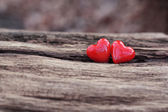 2 red hearts — Stock Photo