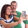 Young couple taking selfie — Foto de Stock