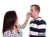 Una bofetada en la cara — Foto de Stock