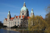 Neues Rathaus in Hannover, Germany — Stock Photo