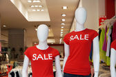 Dummies advertising summer clearance sale — Stock Photo
