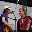 Постер, плакат: Wolfgang Niedecken performs with Hubert von Goisern at the Linz