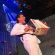 Постер, плакат: Austrian musician Hubert von Goisern performs on stage at the Li