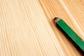 Closeup of green carpenter pencil — Stock Photo