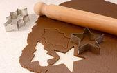 Fare biscotti di panpepato — Foto Stock