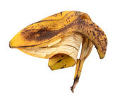 Discarded spotted overripe banana skin — Stock Photo
