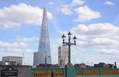 The Shard from Southwark Bridge in London, England — Stock Photo