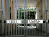 Borough Market gates closed to the public — Stock Photo
