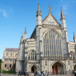 Постер, плакат: West facade of Winchester Cathedral England