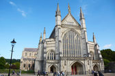 West facade of Winchester Cathedral, England — Stock Photo