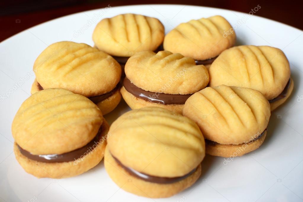 Как сделать печенье с начинкой внутри