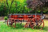 Trä vagn — Stockfoto