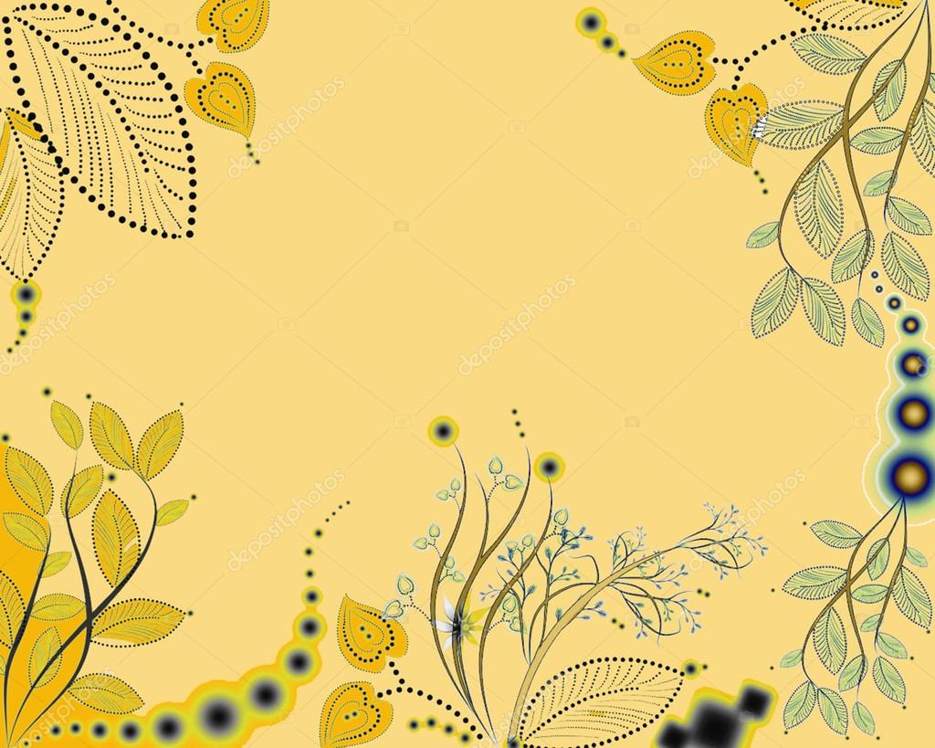 Yellow floral background — Stock Photo #13422340