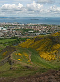 View from the hill in Holyrood Park — Stock Photo