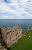The view from the wall of Tantallon Castle — ストック写真