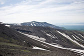 View from the slopes of the volcano Avachinsky — Stock Photo