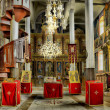 Stock Photo: Orthodox church interior pano