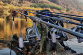 Fishing rods close up — Stock Photo