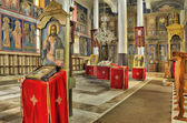 интерьер православной церкви — Стоковое фото