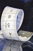 Tailor measure tape spiral closeup — Stock Photo