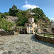 Old ancient church complex and monastery, St. Joakim Osogovski, Macedonia panorama — Stock Photo