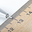 Royalty-Free Stock Photo: School ruler and pencil