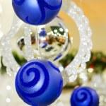 Feliz Navidad y feliz año nuevo bolas — Foto de Stock