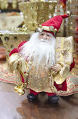 Awesome Christmas and new year decoration with red Santa Claus — Stock Photo