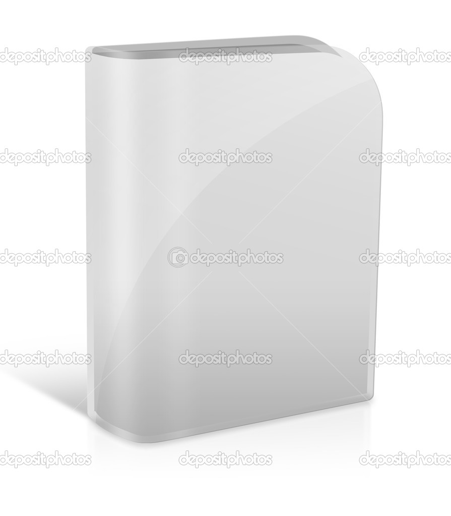 Software packaging - blank grey box isolated on white — Stock Photo #18148741