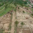 View of the excavations of the ancient city — Stock Photo