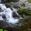 Mountain stream waterfall — Stock Video