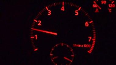 Speedometer SPORT car — Stock Video