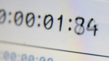 Cronómetro digital temporizador — Vídeo de stock